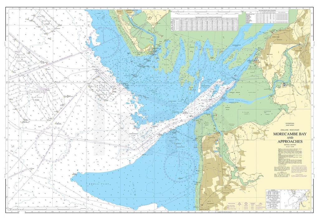 Nautical Chart - Admiralty Chart 2010 - Morecambe Bay and Approaches
