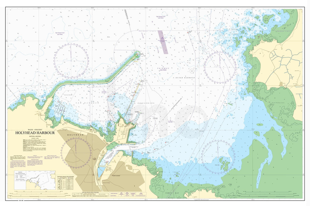 Nautical Chart - Admiralty Chart 2011 - Holyhead Harbour