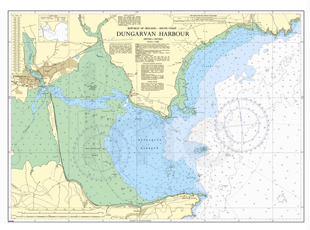 Nautical Chart - Admiralty Chart 2017 - Dungarvan Harbour