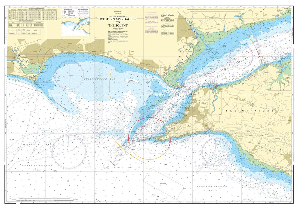 Nautical Chart - Admiralty Chart 2035 - Western Approaches to The Solent