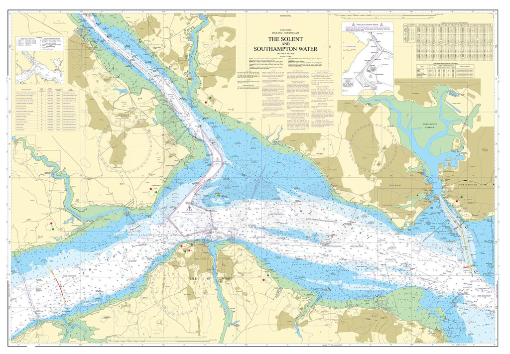 Nautical Chart - Admiralty Chart 2036 - The Solent and Southampton Water