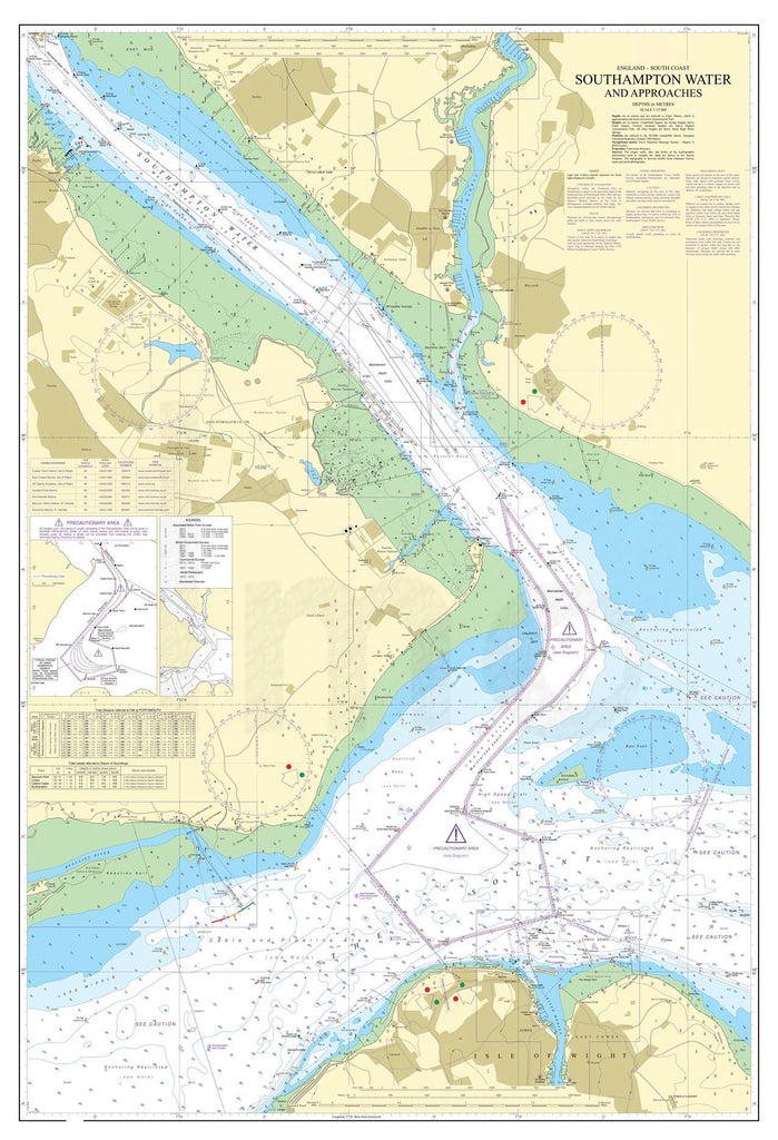 Nautical Chart - Admiralty Chart 2038 - Southampton Water and Approaches