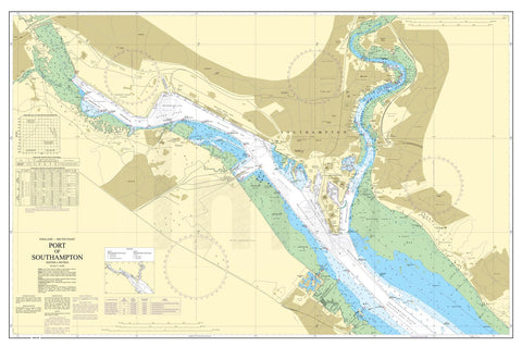 Nautical Chart - Admiralty Chart 2041 - Port of Southampton