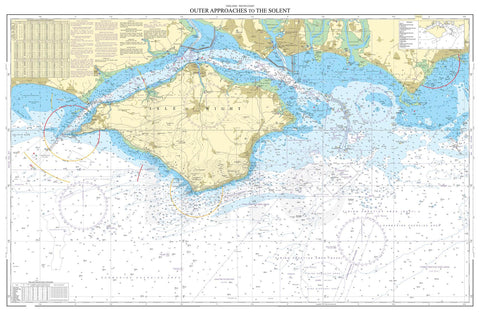 Nautical Chart - Admiralty Chart 2045 - Outer Approaches to The Solent.