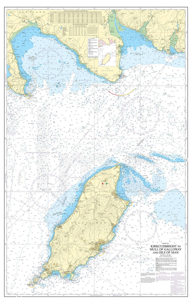 Nautical Chart - Admiralty Chart 2094 - Kirkcudbright to Mull of Galloway and Isle of Man