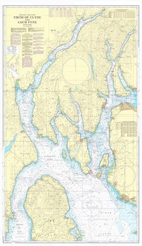 Nautical Chart - Admiralty Chart 2131 - Firth of Clyde and Loch Fyne