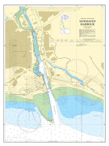 Nautical Chart - Admiralty Chart 2154 - Newhaven Harbour