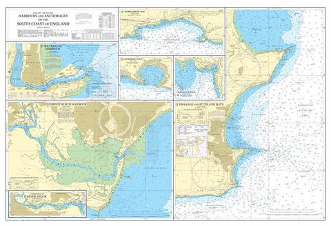 Nautical Chart - Admiralty Chart 2172 - Harbours and Anchorages on the South Coast of England