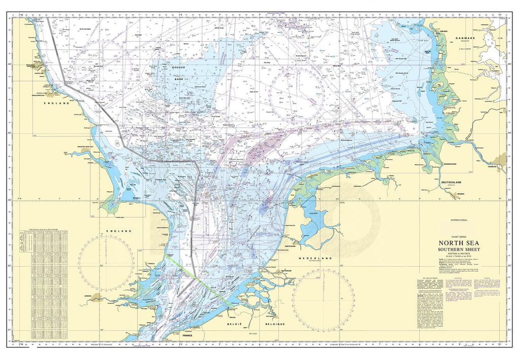 Nautical Chart - Admiralty Chart 2182A - North Sea - Southern Sheet