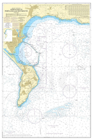 Nautical Chart - Admiralty Chart 2255 - Approaches to Portland and Weymouth