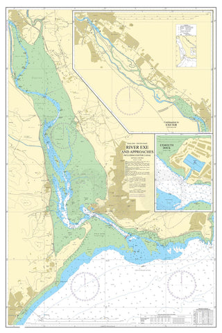 Nautical Chart - Admiralty Chart 2290 - River Exe and Approaches including Exeter Canal