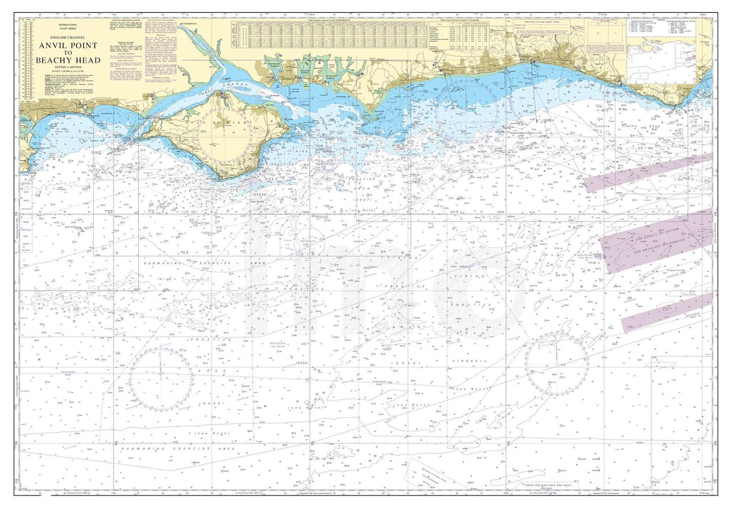 Nautical Chart - Admiralty Chart 2450 - Anvil Point to Beachy Head including the Isle of Wight