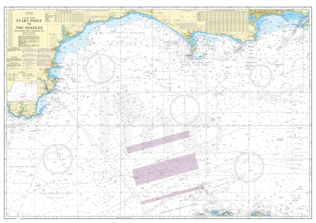 Nautical Chart - Admiralty Chart 2454 - Start Point to the Needles.