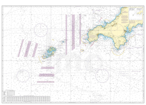 Nautical Chart - Admiralty Chart 2565 - St Agnes Head to Dodman Point including the Isles of Scilly