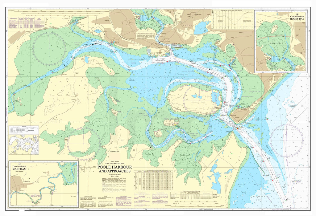 Nautical Chart - Admiralty Chart 2611 - Poole Harbour and Approaches
