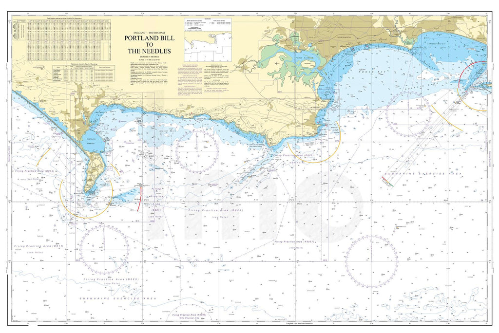 Nautical Chart - Admiralty Chart 2615 - Bill of Portland to The Needles