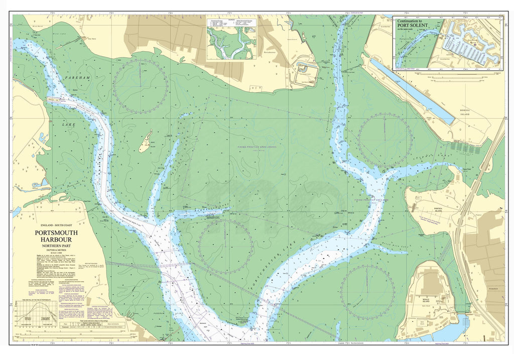 Nautical Chart - Admiralty Chart 2628 - Portsmouth Harbour Northern Part
