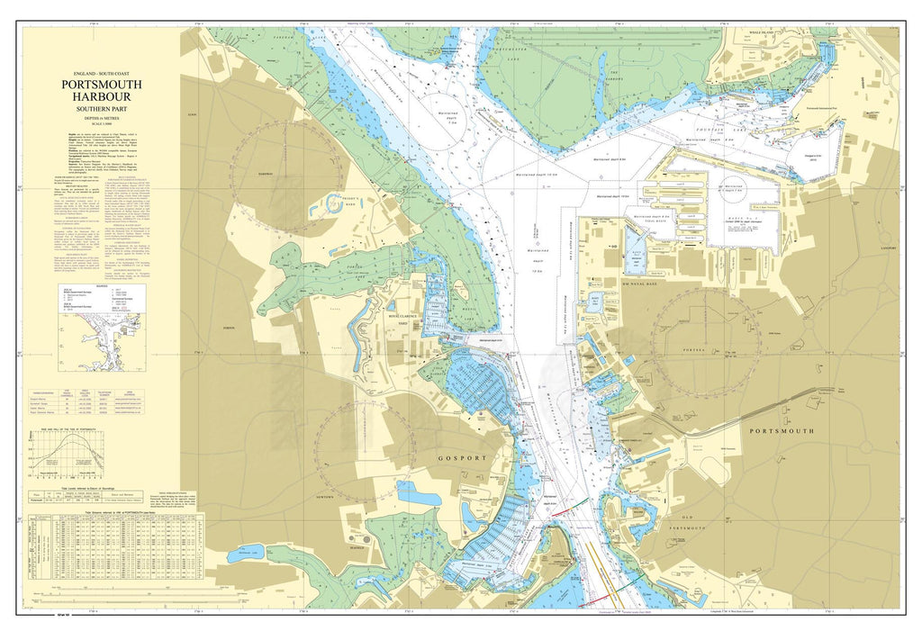 Nautical Chart - Admiralty Chart 2629 - Portsmouth Harbour Southern Part