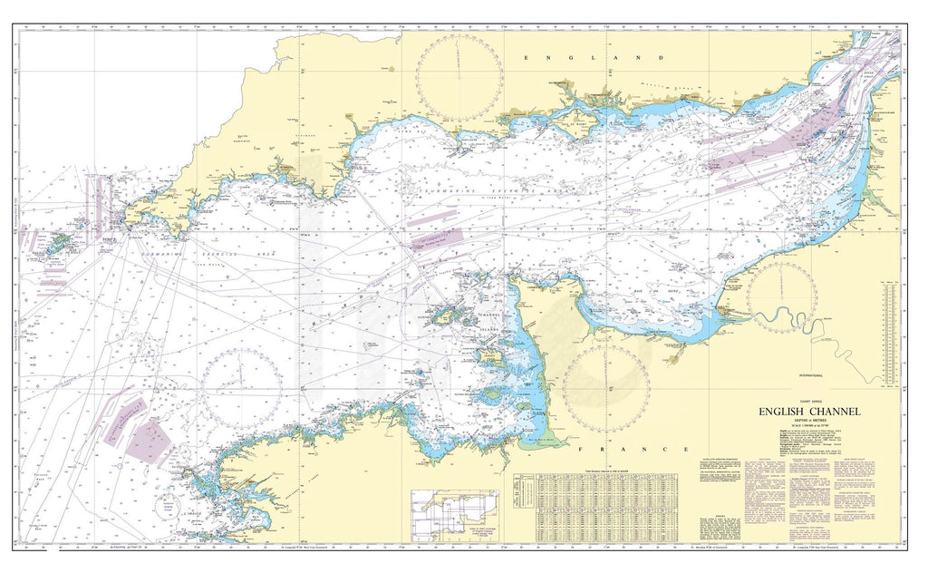 Nautical Chart - Admiralty Chart 2675 - English Channel.
