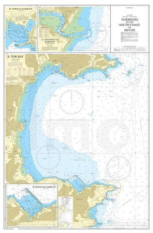Nautical Chart - Admiralty Chart 26 - Harbours on the South Coast of Devon