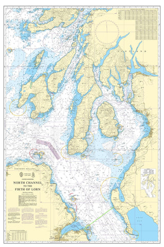 Nautical Chart - Admiralty Chart 2724 - North Channel to the Firth of Lorn