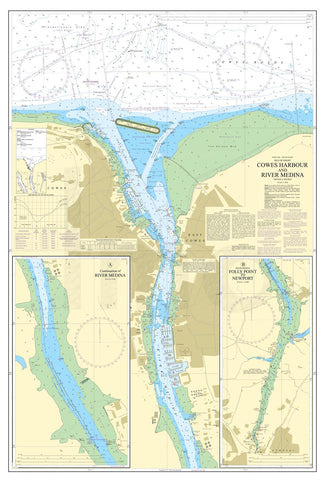 Nautical Chart - Admiralty Chart 2793 - Cowes Harbour and River Medina