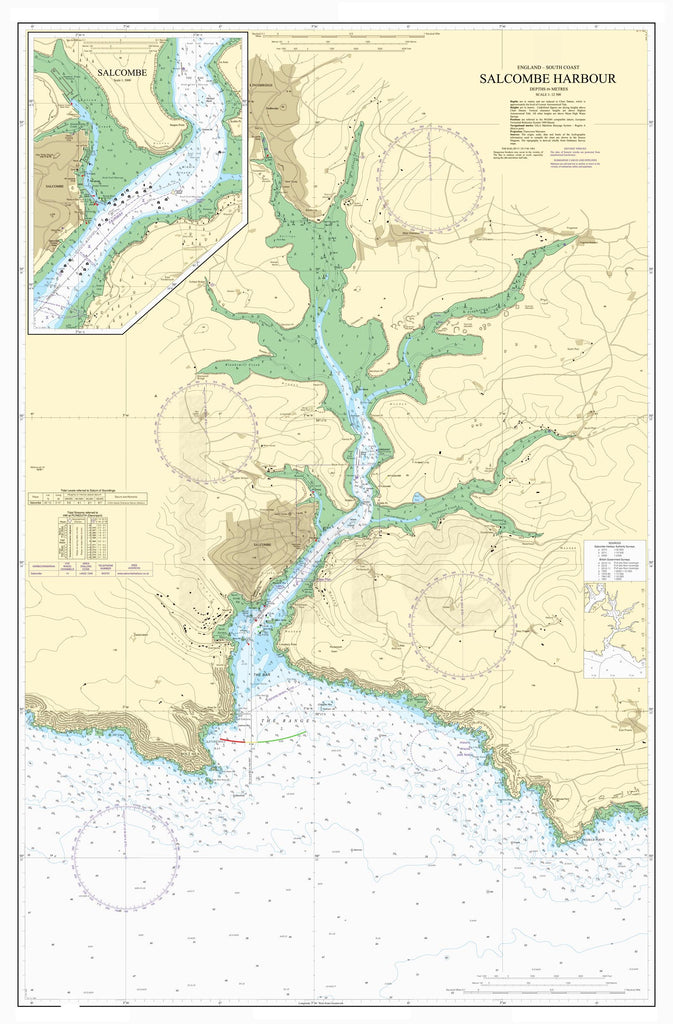 Nautical Chart - Admiralty Chart 28 - Salcombe Harbour