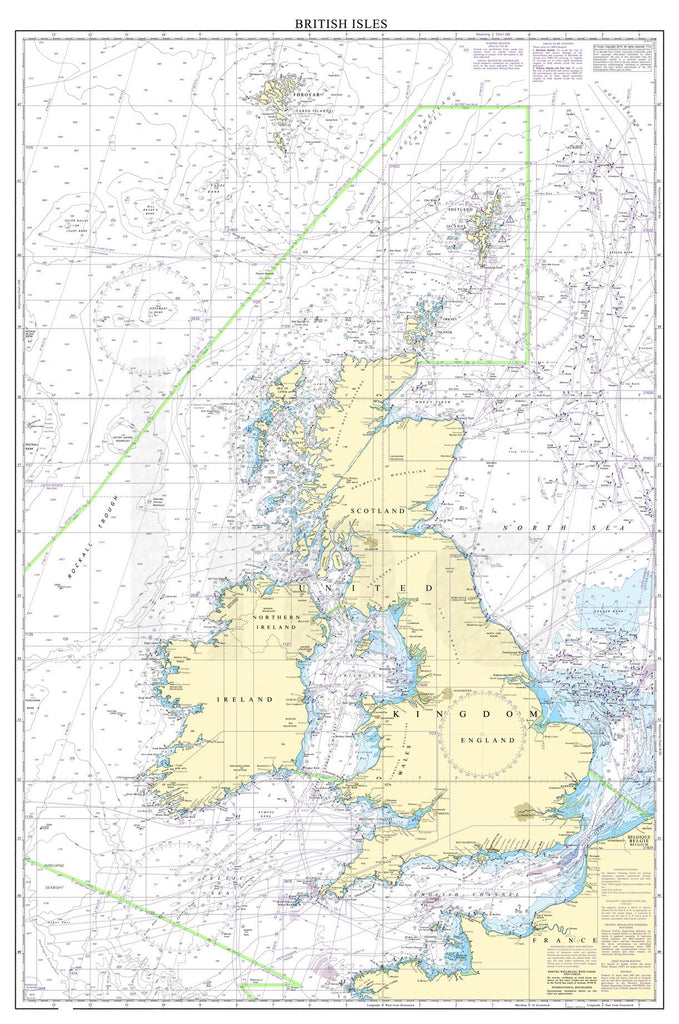 Nautical Chart - Admiralty Chart 2 - British Isles