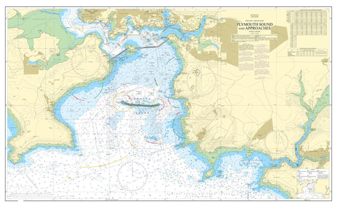 Nautical Chart - Admiralty Chart 30 - Plymouth Sound and Approaches.