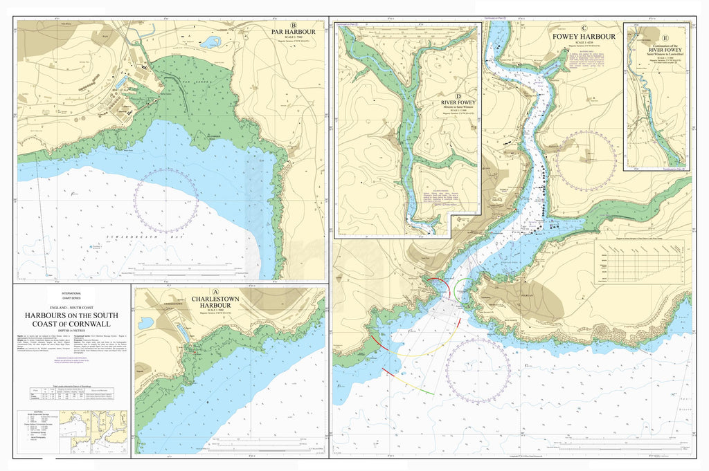 Nautical Chart - Admiralty Chart 31 - Harbours on the South Coast of Cornwall
