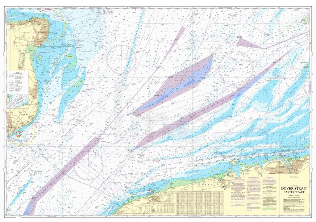 Nautical Chart - Admiralty Chart 323 - Dover Strait, Eastern Part