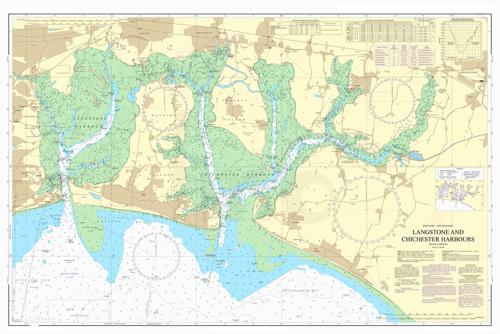 Nautical Chart - Admiralty Chart 3418 - Langstone and Chichester Harbours