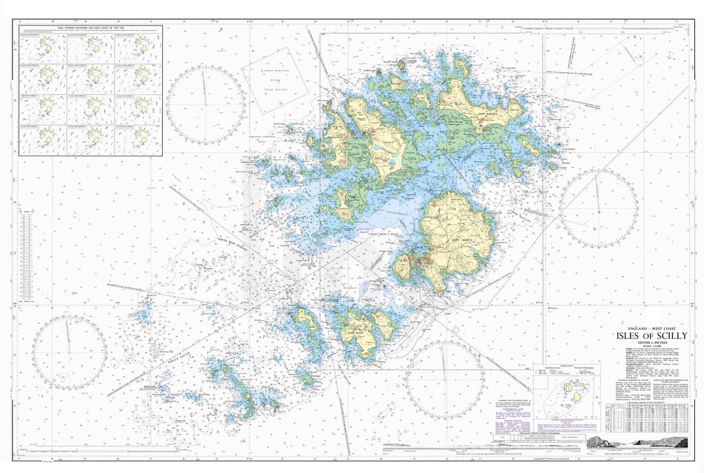 Nautical Chart - Admiralty Chart 34 - Isles of Scilly