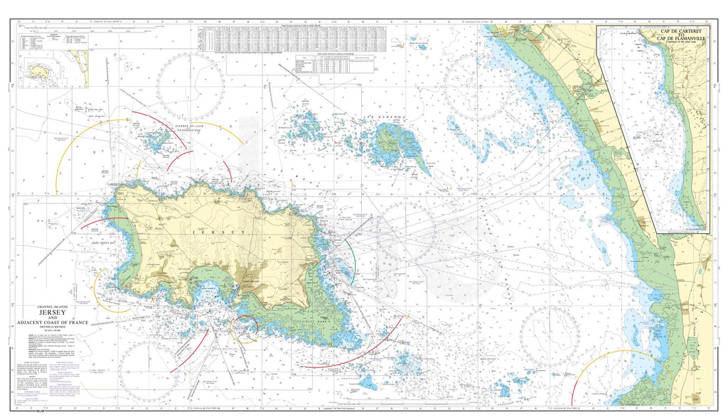 Nautical Chart - Admiralty Chart 3655 - Jersey and Adjacent Coast of France