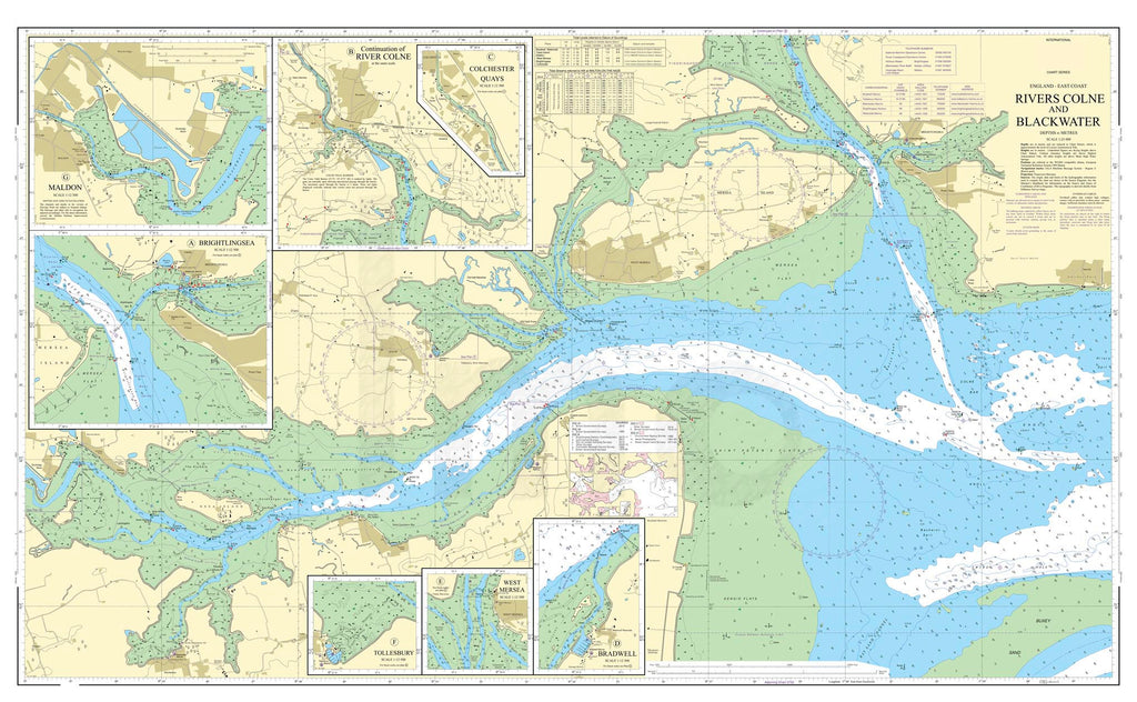 Nautical Chart - Admiralty Chart 3741 - Rivers Colne and Blackwater