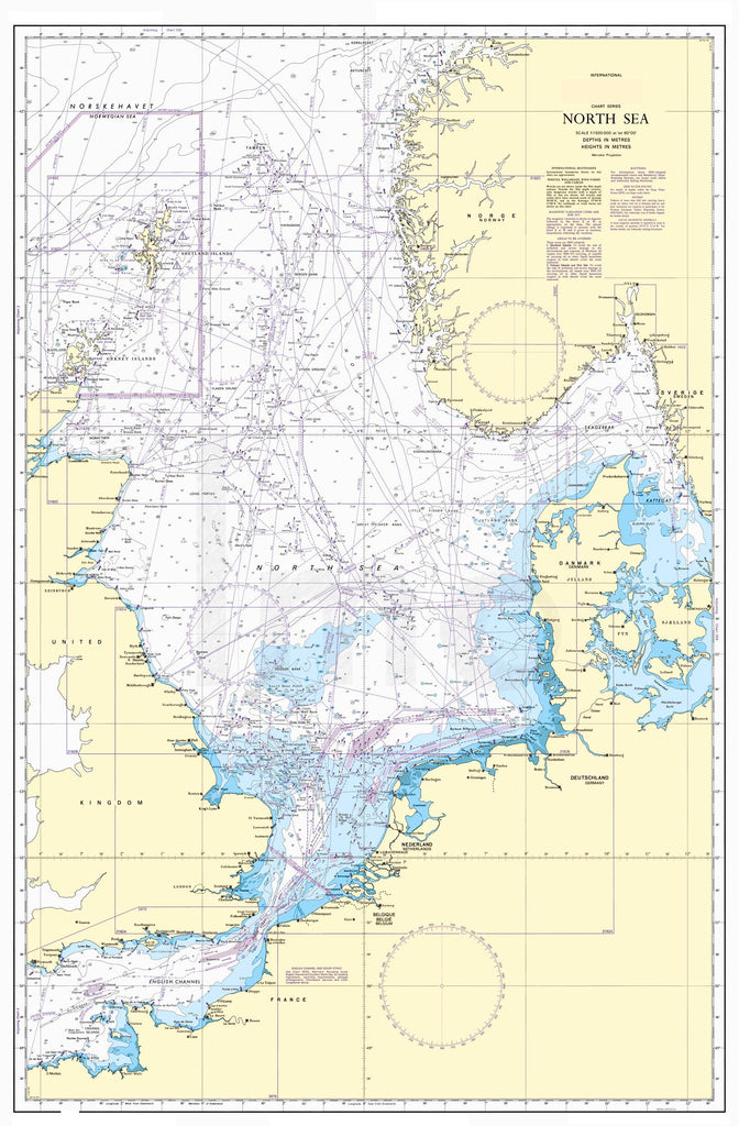Nautical Chart - Admiralty Chart 4140 - North Sea