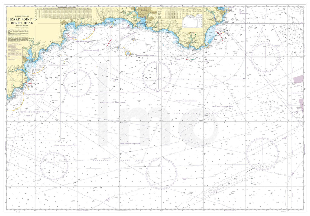 Nautical Chart - Admiralty Chart 442 - Lizard Point to Berry Head