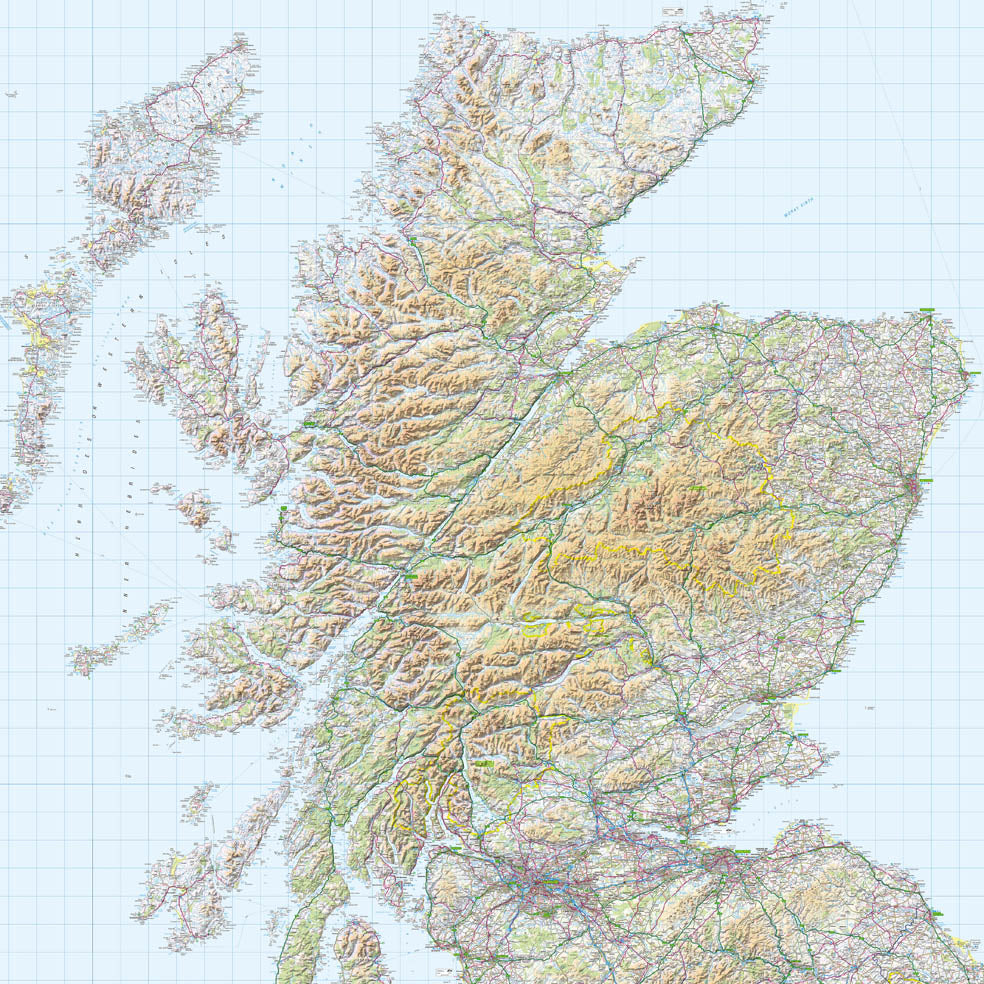 Map Wallpaper - Scotland from Love Maps On...