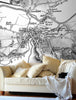 Map Wallpaper - Custom Vintage Ordnance Survey Map - Old Series (1805-1874) - Love Maps On... - 1
