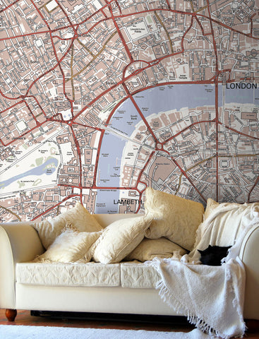 Map Wallpaper - Custom Ordnance Survey Street Map - Classic