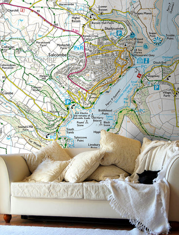 Map Wallpaper - Custom Ordnance Survey Explorer Map