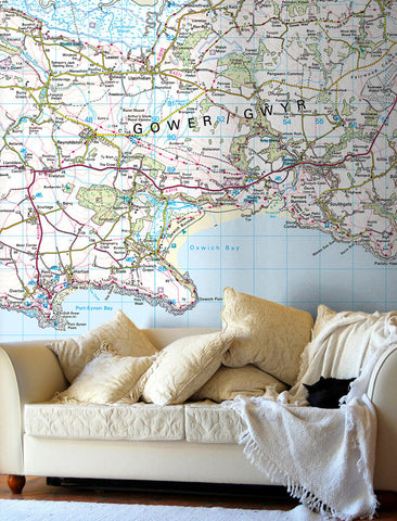 Map Wallpaper - Custom Ordnance Survey Landranger Map