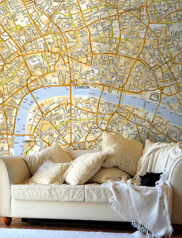 Map Wallpaper - Custom Ordnance Survey Street Map