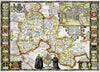 Map Wallpaper - Vintage County Map - Oxfordshire - Love Maps On... - 3