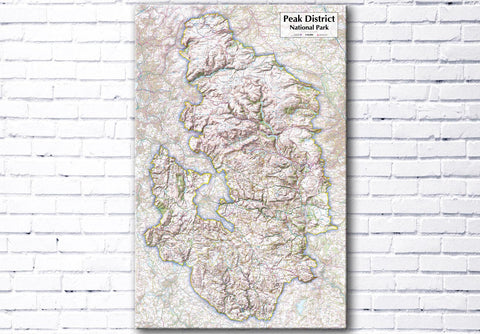 Peak District National Park - Map Poster