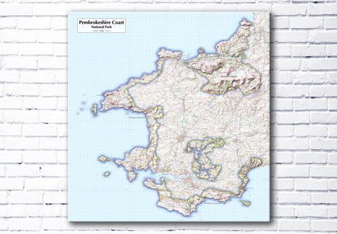 Pembroke Coast National Park - Map Poster