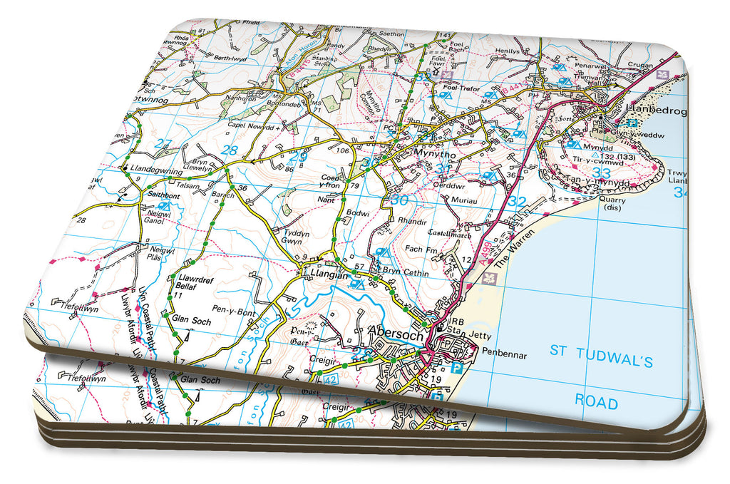 Map Placemats - Personalised Ordnance Survey Landranger Map - Love Maps On...