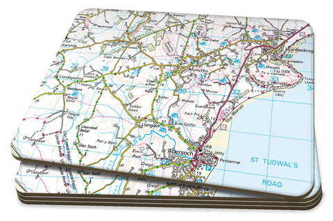 Map Placemats - Personalised Ordnance Survey Landranger Map