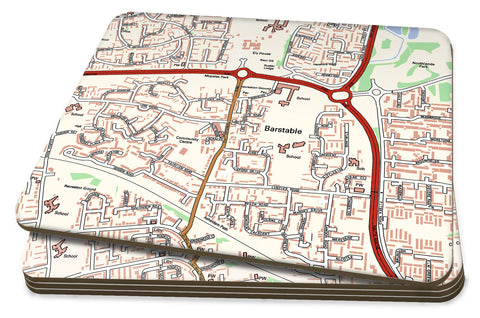 Map Placemats - Personalised Ordnance Survey Street Map