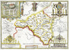 Map Wallpaper - Vintage County Map - Radnorshire - Love Maps On... - 3